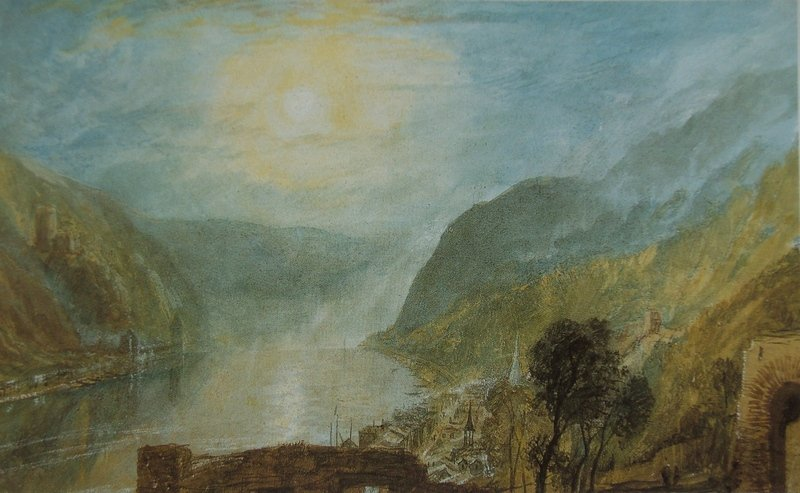 Turner: From Rheinfels looking over St. Goar to Burg Katz, Germany